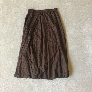 DKNY choc. brown silk skirt.